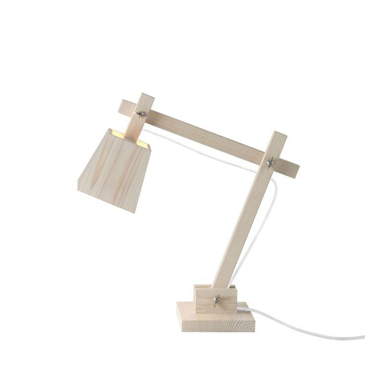 Luxury Wood Tischleuchte wei A Jetzt bestellen unter http