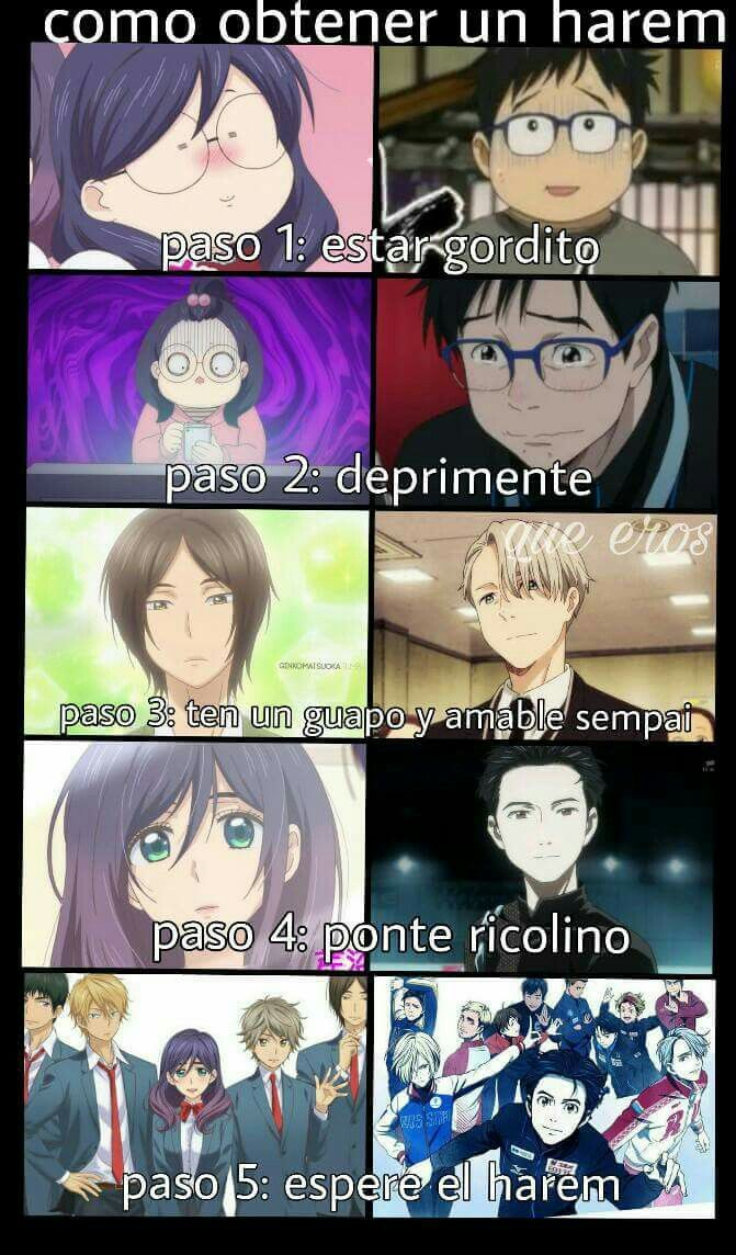 Hahaha lo malo es que eso sólo pasa en el anime :''v