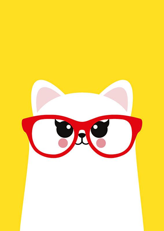 Studio Inktvis | Poster Cat with Glasses