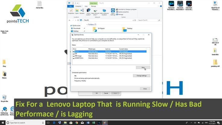 Fix For a Lenovo Laptop That is Running Slow / Has Bad Performace / is Lagging.This video doesn't take you through  just one possible fix for this problem but rather multiple possible reason for slow computer.  This video is helpful for any desktop or laptop model of Lenovo. This video should be helpful with any version of windows.  Videos mentioned in this Video:  How to Reset My Lenovo to Factory Settings Windows 8 / 10 https://www.youtube.com/watch?v=vVZAL...  How to Figure Out What's…