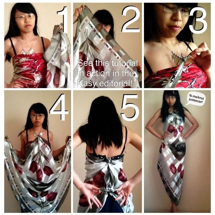 Knot Just A Scarf Tutorial #103: Arrowhead #Necklace Diamond #Scarf #Dress. #diy #nosew #stealthekasylook