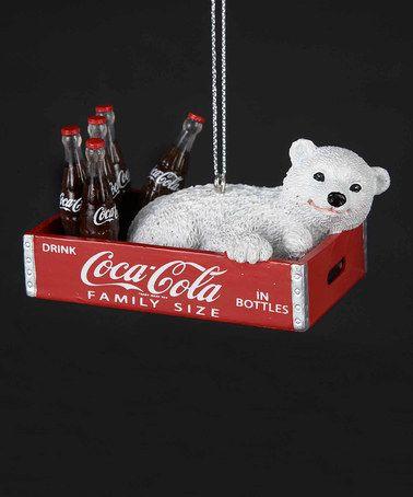 Look what I found on #zulily! Coca-Cola Polar Bear Cub in Box Ornament by Coca-Cola  #zulilyfinds