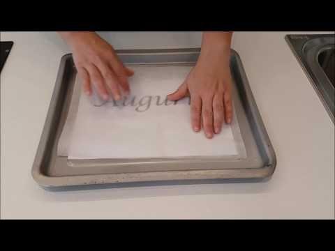 Come realizzare scritte di cioccolato perfette - YouTube