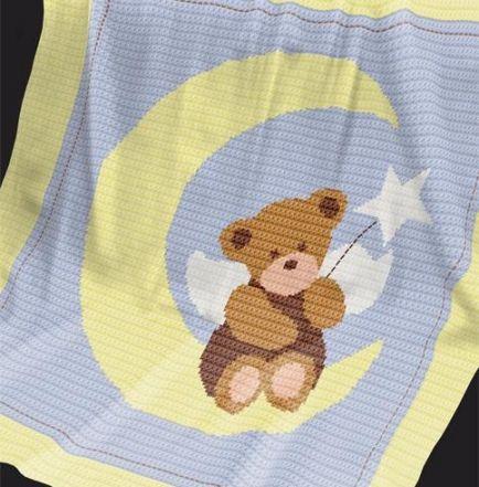 Crochet Pattern   Baby Blanket / Afghan - Angel Bear