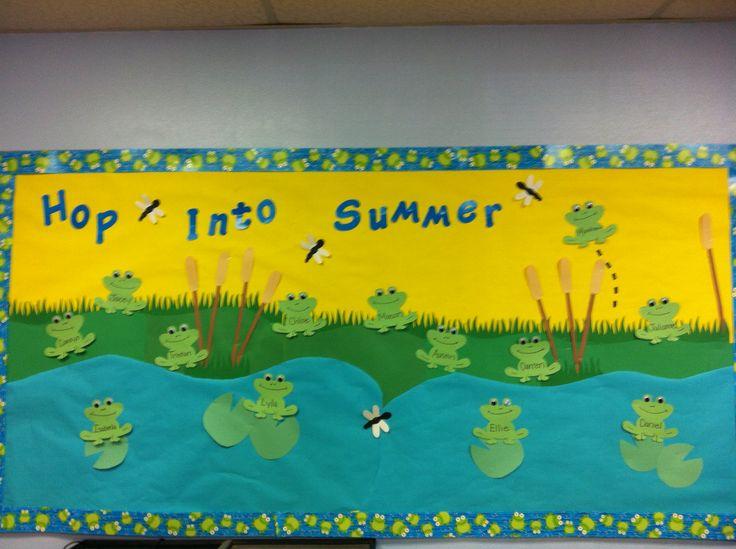 Frog bulletin board preschool