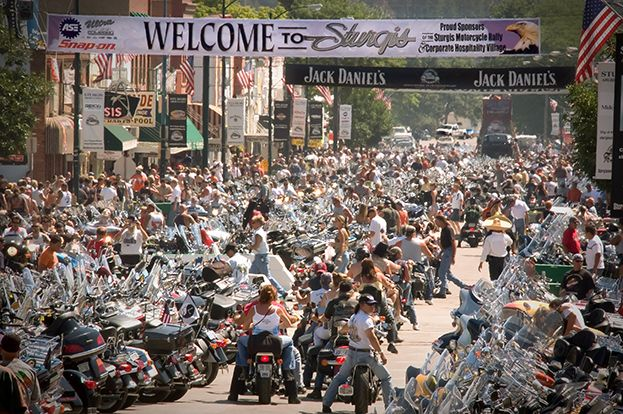 Main Street during the Sturgis Motorcycle Rally