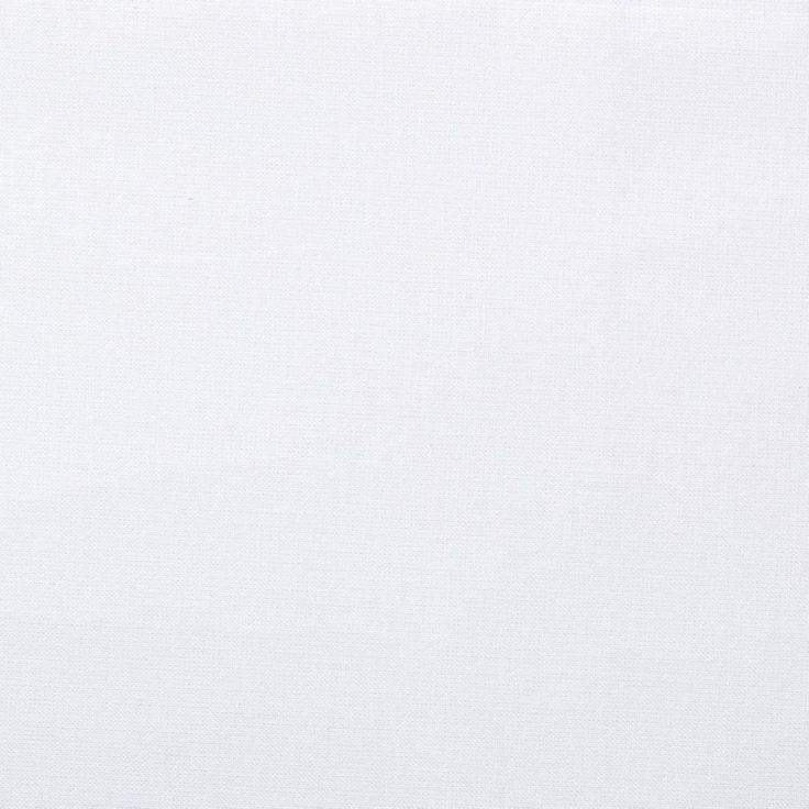 5,99€/m - Tissu coton uni Cristina blanc