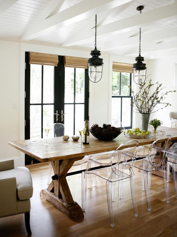 Rustic Meets Refined: 15 Ways to Add Farmhouse Style | Interior Design Styles and Color Schemes for Home Decorating | HGTV >> http://www.hgtv.com/design/decorating/design-101/rustic-meets-refined--15-ways-to-add-farmhouse-style-pictures?soc=pinterest