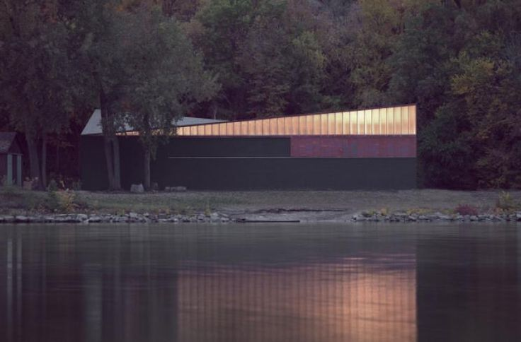 Minneapolis Rowing Club Boathouse | VJAA - This roof is amazing