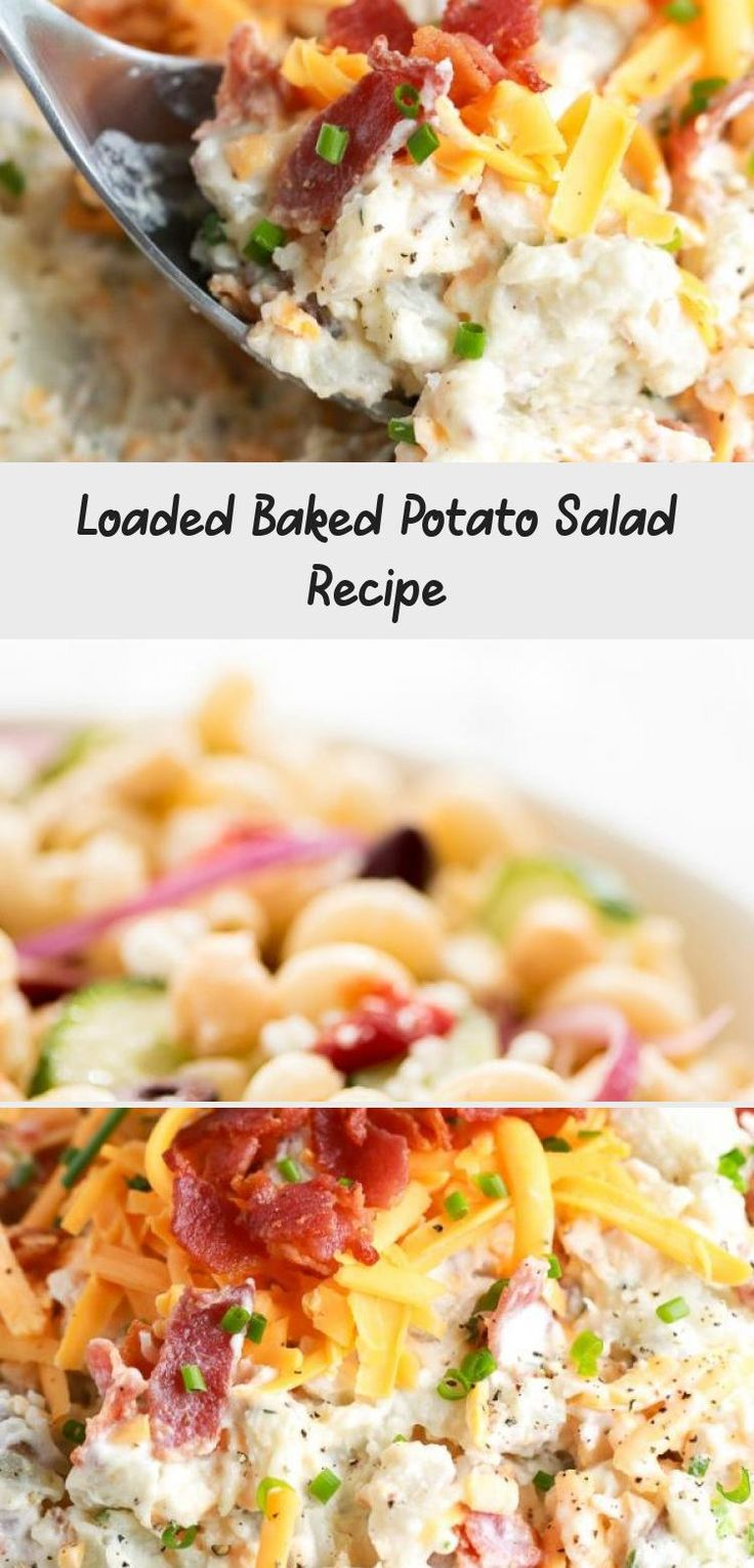 Loaded baked potato salad is the perfect potato salad recipe for barbecues, pot lucks, or as a side dish. It is always the first thing gone! #centslessmeals #potatosalad #bakedpotato #withbacon #easyrecipe #sidedish #withpotatoes #withcheese #potluck #makeahead #easyside #Layeredsaladrecipes #Summersaladrecipes #Springsaladrecipes #saladrecipesLowCalorie #saladrecipesForACrowd