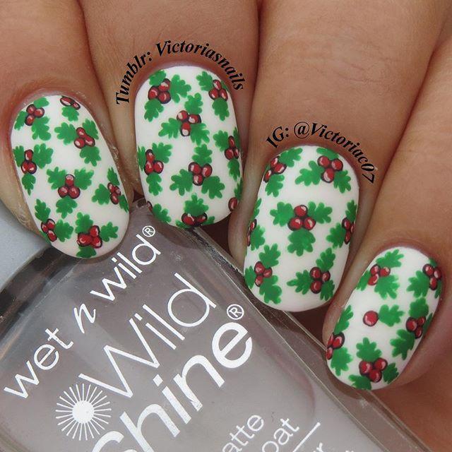 Mejores 115 imágenes de Christmas Nails en Pinterest   Uñas de ...