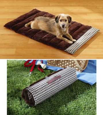 Roll-away Reversible Pet Bed Mat especially great for when you travel with your pet