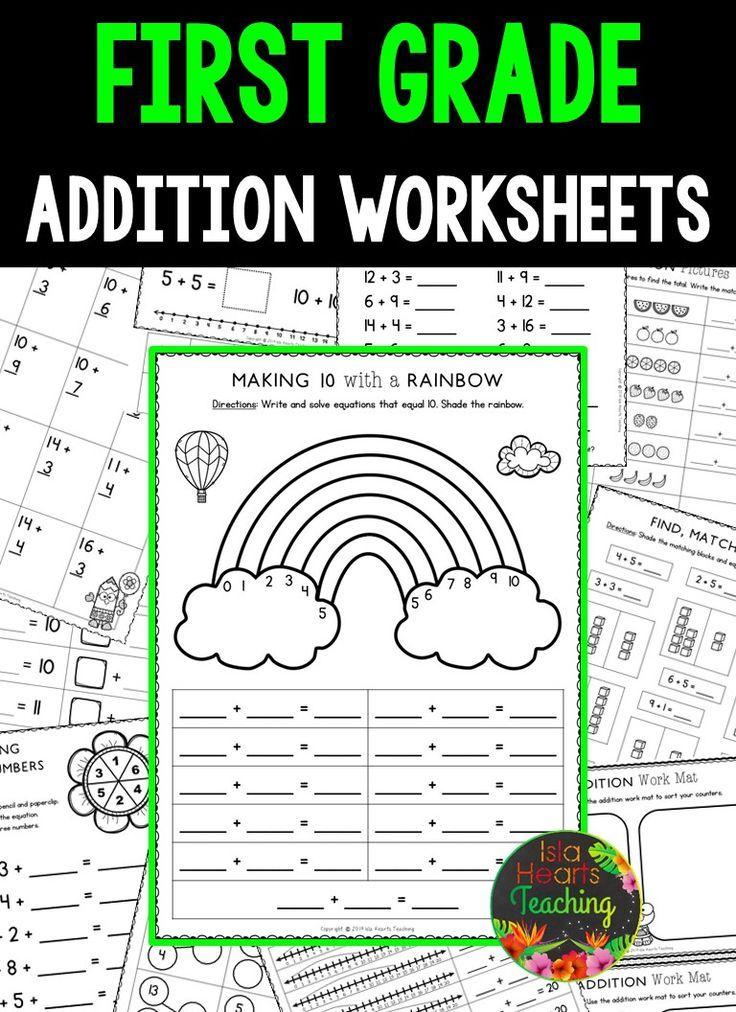 First Grade Addition Worksheets (First Grade Math Series