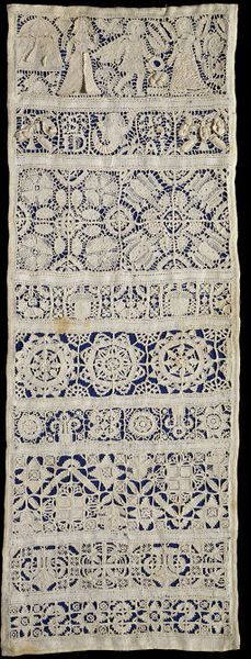 1649, england, Linen, embroidered with linen, with cutwork and drawn thread work