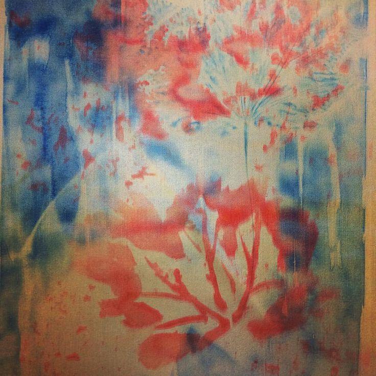 Autumn leaves using disperse dye 🍂