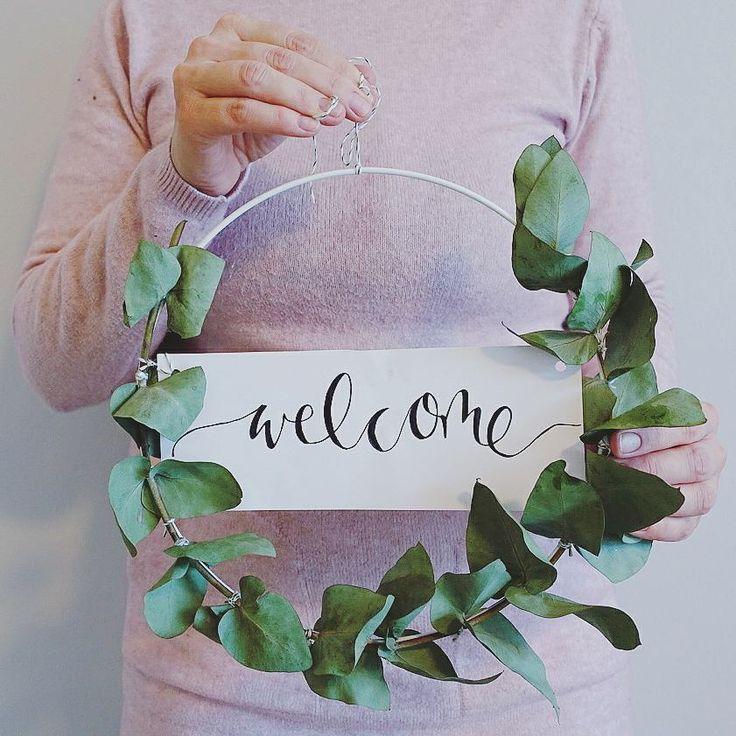 Eucalyptus krans met letters | Kerstdecoratie | Advent decoratie | Door …  – Sabinas joeys Wedding