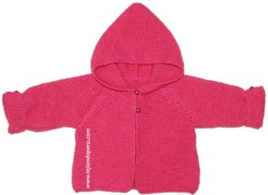 Saco con capucha para bebé (tutorial)