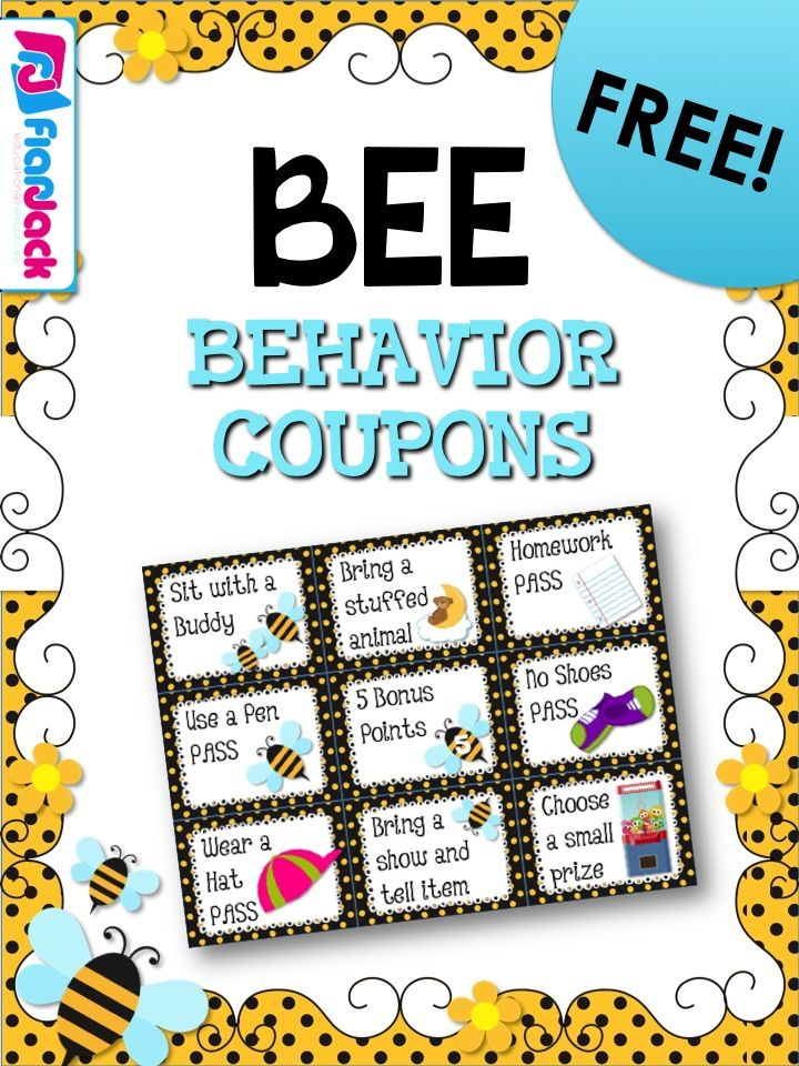 Whether you're doing the bee theme or not, these free behavior coupons will be sure to motivate your students!