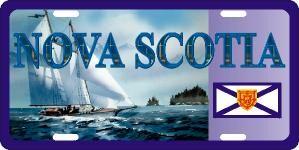 Nova Scotia Schooner Licence Plates