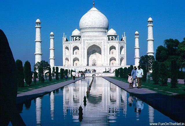 Taj Mahal. Would so love to go there someday.
