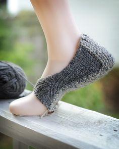 Cinerella's More Practical Footwear, knit with Kent DK and Breakfast Blend DK