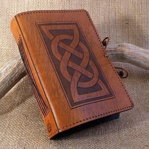 Standard - Celtic Friendship Knot Hand Bound Leather Journal on Etsy, $48.23