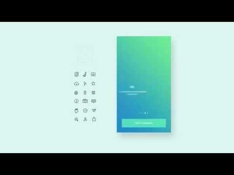 Pibox, messaging app on Behance