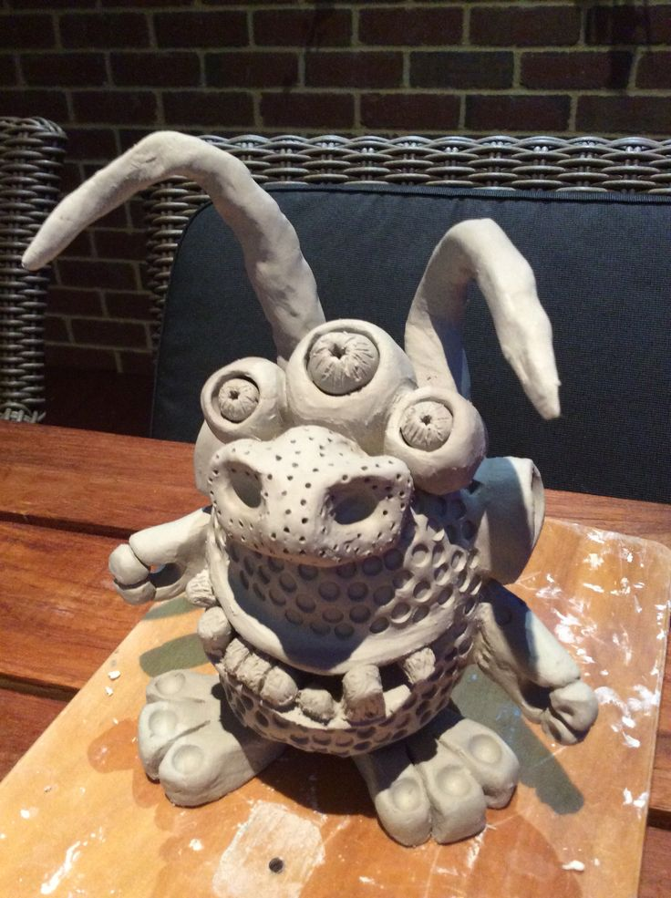 Paper Clay Anamorphic Creature - Ceramics