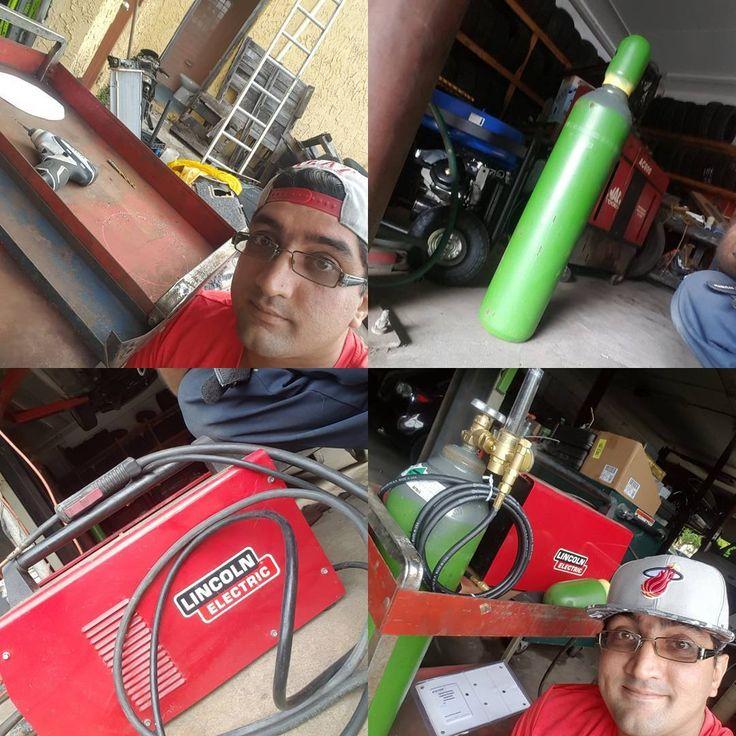Welding Cart Baby! @lincolnelectric #lincolnelectric #victorflowregulator #airgas #welding #hotrod #unstoppableGOD