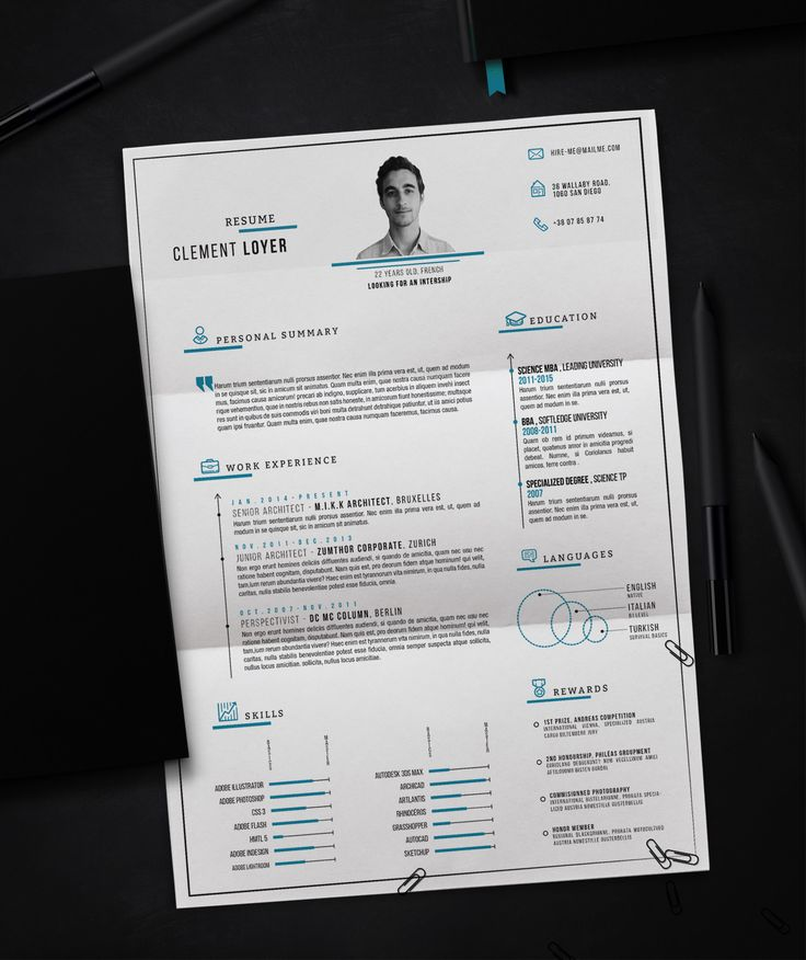 32 best Resume templates images on Pinterest Resume templates - personal resume templates