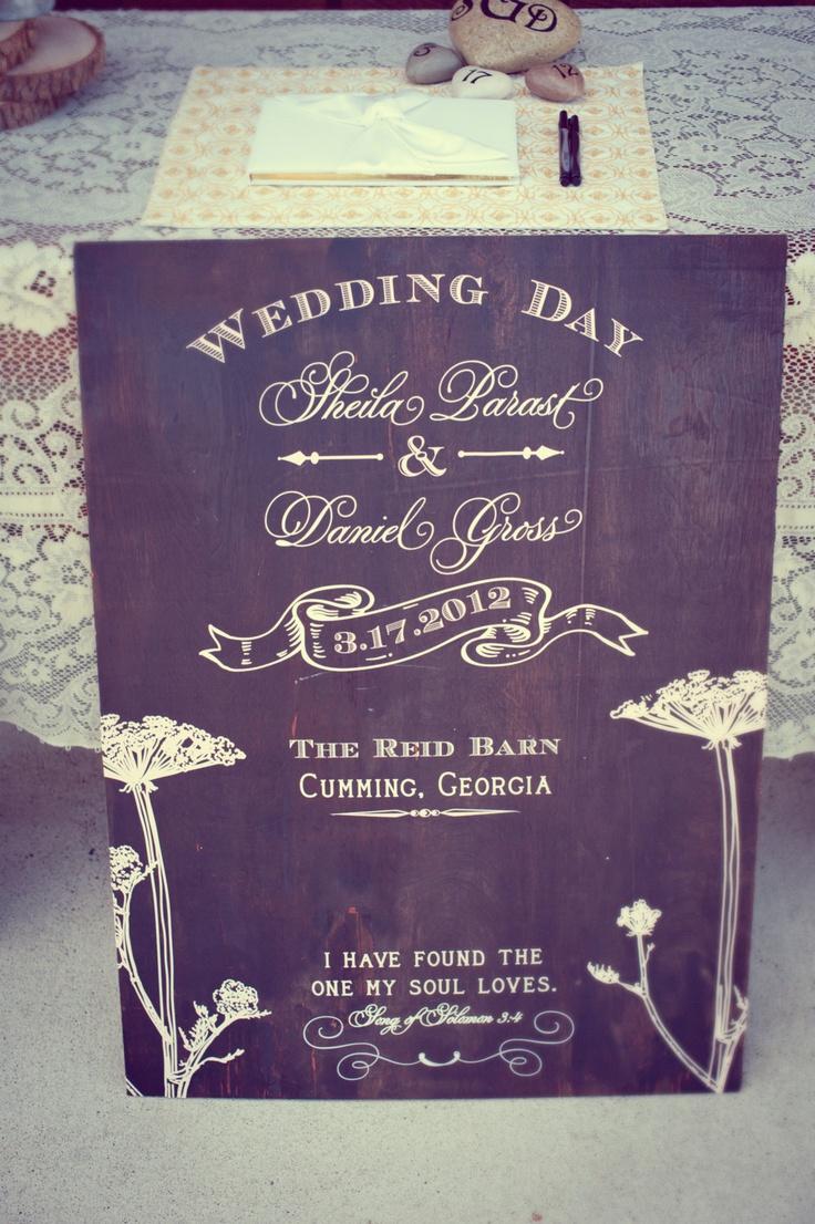 Custom Wooden Wedding Sign. $200.00, via Etsy.