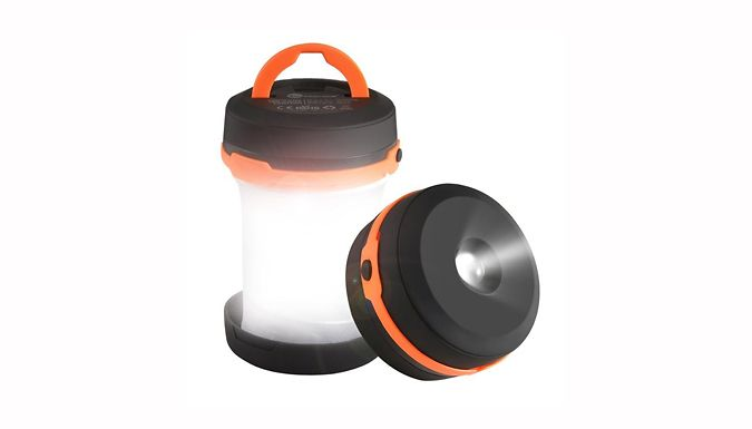 Buy Collapsible Camping Lantern Flashlight for just £8.99 Illuminate your trips with the Collapsible Camping Lantern Flashlight      Durable, unbreakable and collapsible lantern      Take camping to illuminate your route or tent      No more stumbling in the dark      3 modes: weak, strong and strobe      Alert help using the strobe light feature      Requires 3 x AA batteries (not...