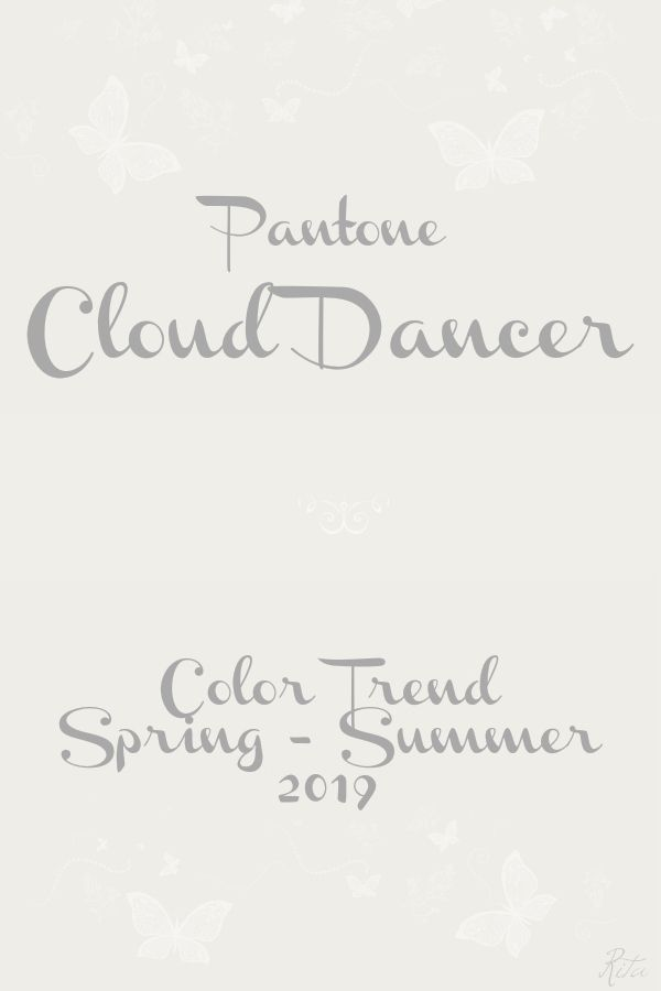 Pantone Cloud Dancer | Color Me Nice ! ( PANTONE ) in 2019