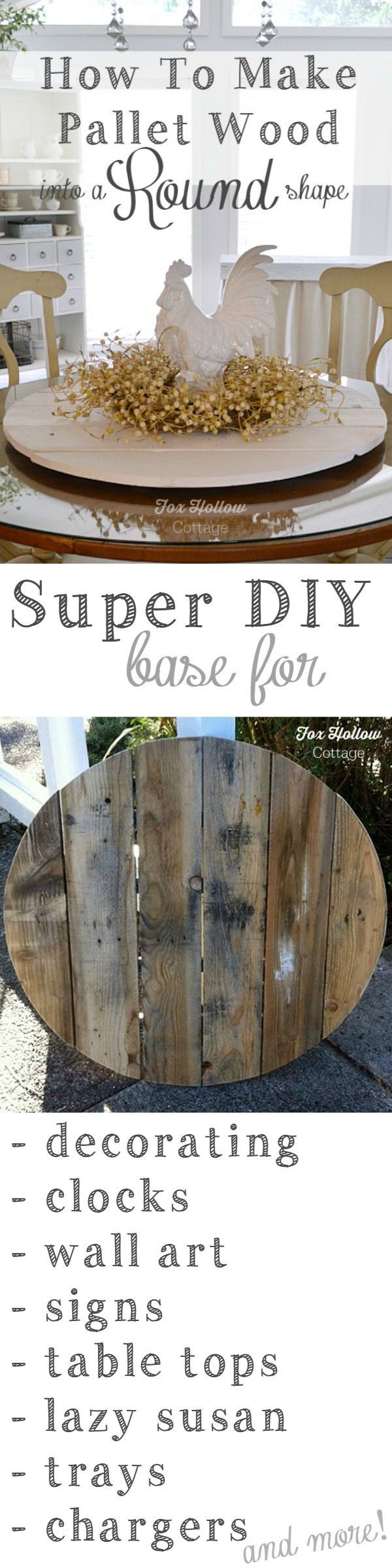 How-to Make Pallet Wood into a Round Circle Shape. Simple beginner friendly DIY tutorial at foxhollowcottage.com