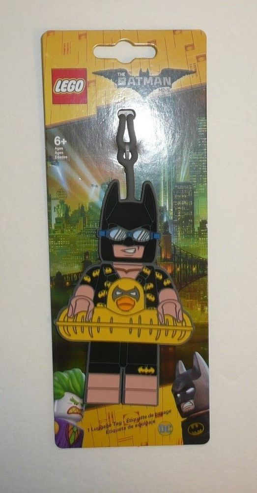 The Lego Batman Movie Ducky Luggage Tag ID Tag Kids Children Rubber Suitcase NEW #Lego