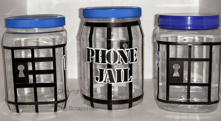 The Scrapoholic : Pintresting Creation - Cell Phone Jail and other's like Wii, PlayStation, etc...