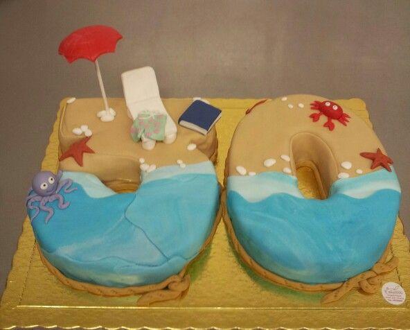 30 year's. Beach cake