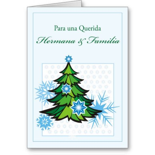 The 50 best spanish cards images on pinterest spain spanish and sister family spanish christmas snowflakes holiday card m4hsunfo