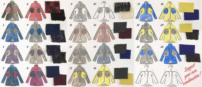 I need your help Selecting Fabric for the Dot Coat. Choose your favourite combination. Now on the Duelling Designs blog: www.duellingdesigns.com