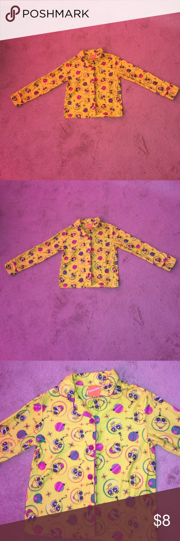 NICKELODEON GIRLS SPONGEBOB PAJAMA TOP..  SIZE 7/8 Good Condition. Same Day Shipping Nickelodeon Pajamas Pajama Tops