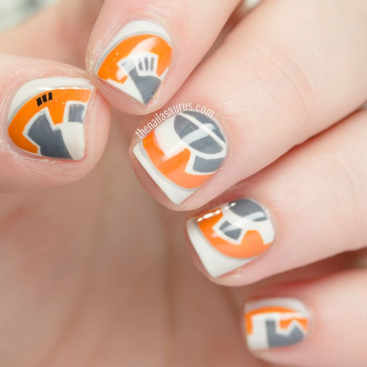 BB-8 Nail Art || Star Wars