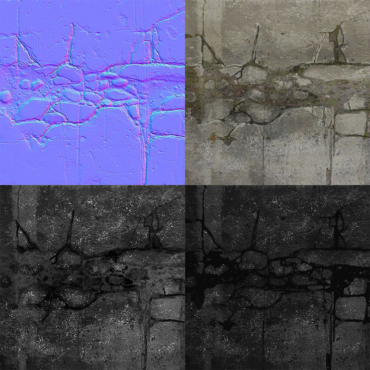 PHILIPK.NET - CRACKED STONE TUTORIALThe normal map got an extra overlay from my base in Photoshop.  The diffuse map can be varied easily by adjusting the cracks hue and brightness.  Specular and glossiness maps are pretty straight forward, I decided to make the gravely part have a pretty decent amount of specular intensity while the glossiness in the smae are is very dark (not black tho).