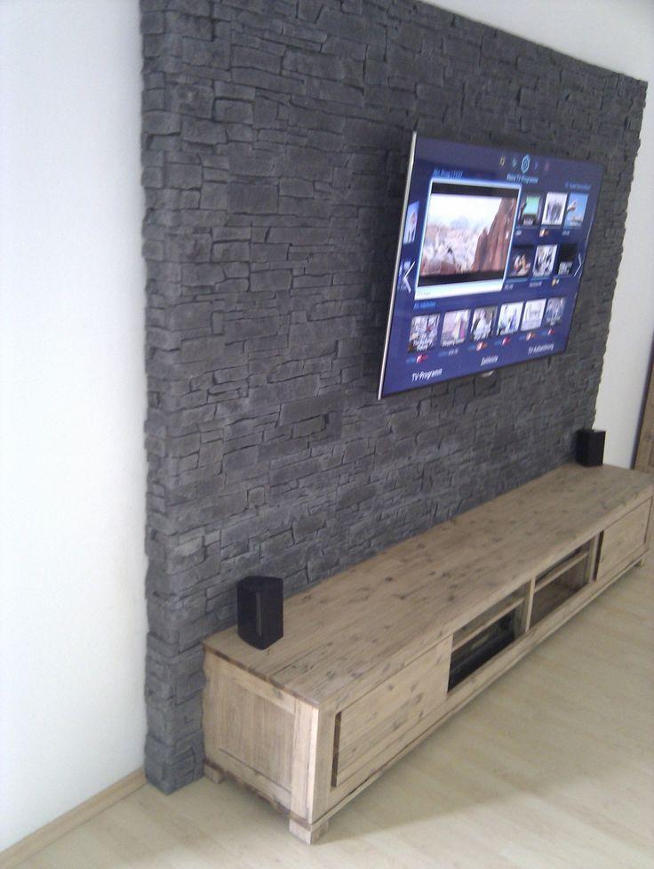 Pin von mathias auf tv wall in 2019 steinwand wohnzimmer und steinwand wohnzimmer - Mediawand selber bauen ...