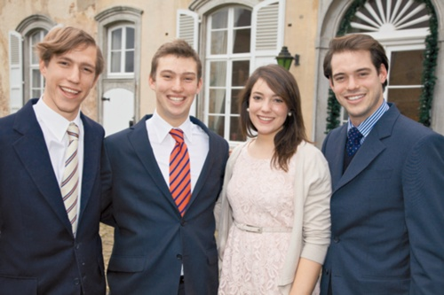 Regal Majesty:  Prince Louis,Prince Sébastien,Princess Alexandra and Prince Félix of Luxembourg.