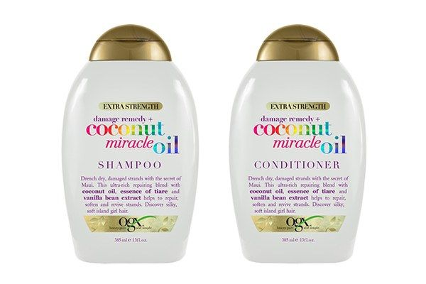 If you like piña coladas and getting...supersoft hair, the hydrating coconut oil and tiare-flower extract in this tropical-scented duo will leave you singing. OGX Coconut Miracle Oil Shampoo, $8.99 (ulta.com). OGX Coconut Miracle Oil Conditioner, $8.99 (ulta.com).