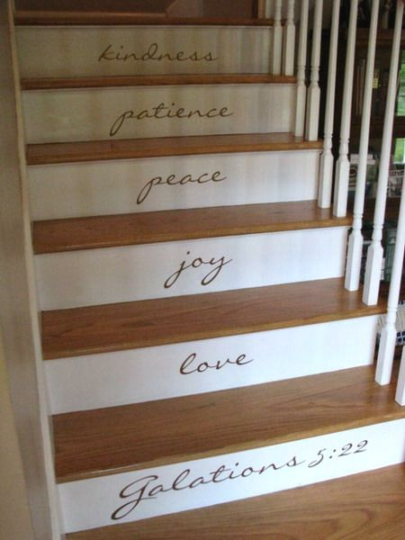 22 Great Stairs Decorating Ideas: Stairs Risers, Daily Reminder, Decor Ideas, Cute Ideas, Basements Stairs, House, Great Ideas, Stairways, Bible Ver