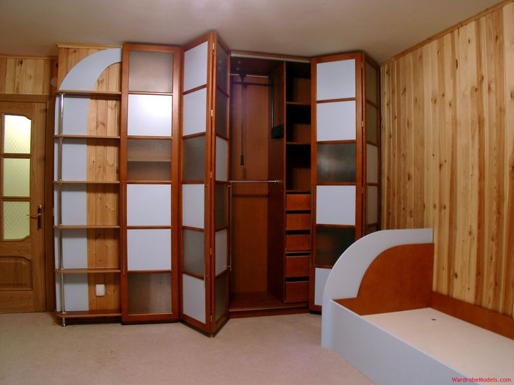 ... Closet With White Lite And Frosted Glass Door As Inspiring Buil In  Wardrobe Closet Cabinetry In Small Space Bedroom With Wooden Wall Panelling  Designs
