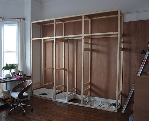 Best 25 diy fitted wardrobes ideas on pinterest diy for How to make wardrobe closet