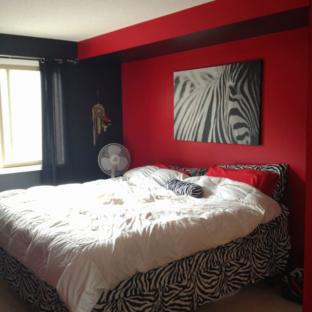 zebra print bedroom furniture. i would do this if my wall did that and in pink not red zebra print bedroomzebra decorbedroom bedroom furniture