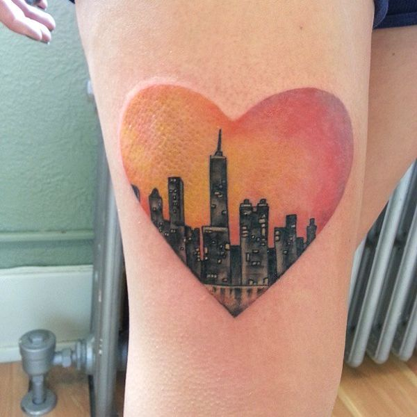 "15 Of The Craziest New York City-Inspired Tattoos #refinery29  http://www.refinery29.com/nyc-inspired-tattoos#slide-15  As Carrie Bradshaw once said, ""If...you only get one great love, New York may just be mine."""